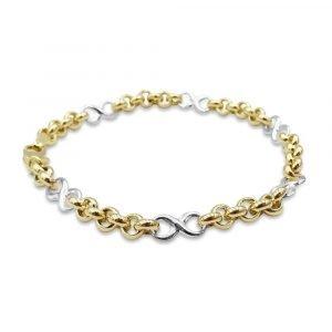 Infinity Belcher Gold Bracelet 9ct