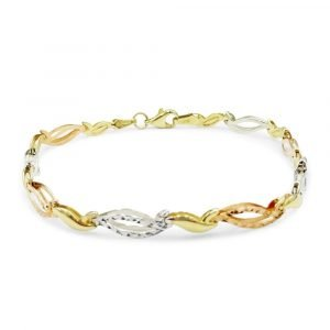 Multi-Colour 9ct Gold Bracelet For Ladies