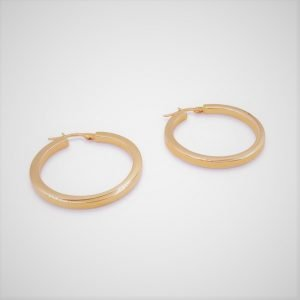 Rose Gold Hoop Earrings 9ct