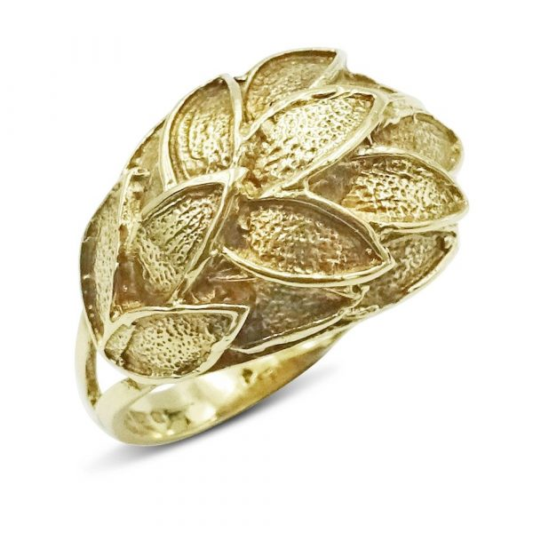 Pre-Owned Leaf 9ct Ring Gold