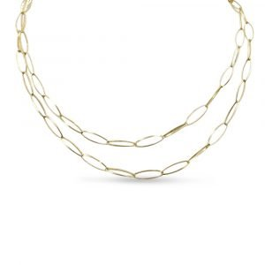 Sterling Silver Gold Plated Long Necklace