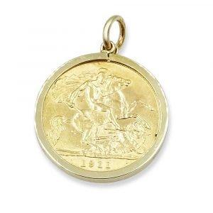 Gold Sovereign Pendant 1911