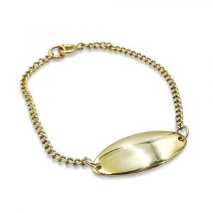 9ct Gold Childs ID Bracelet Engrave