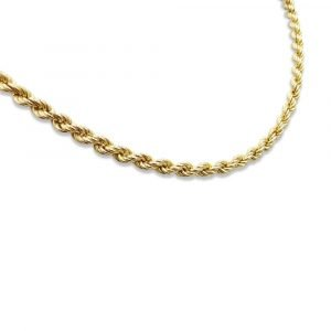 Rope Chain 9ct Gold 30 Inch Pre-Owned