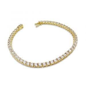 14k Tennis Bracelet CZ Gold