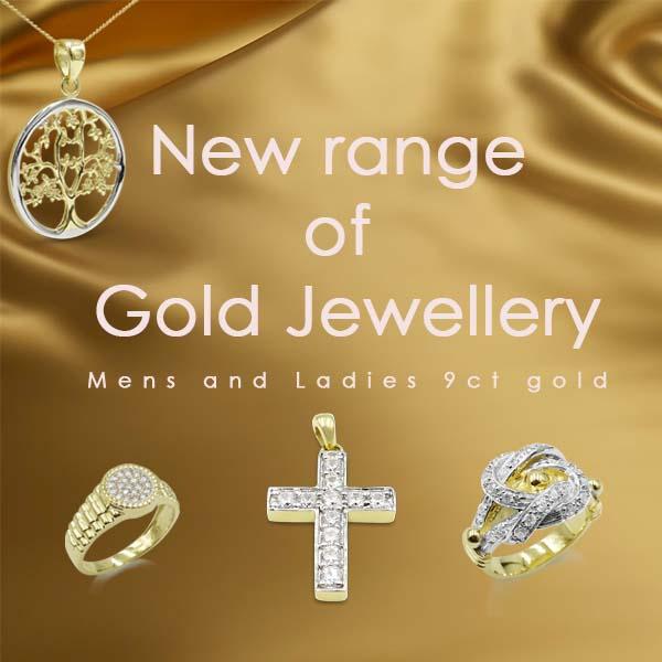 new 9ct gold jewellery