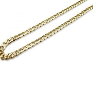 "9ct Gold Heavy Curb Chain 24"" 88g"