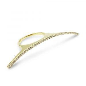 14k Fancy CZ Cluster Ring