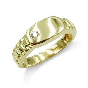 9ct ID Jubilee Ring Mens