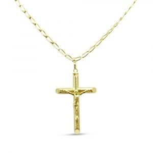 18ct Gold Necklace Crucifix