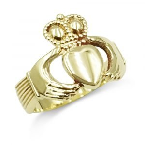 Gold Claddagh Ring Mens 9ct