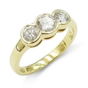 18ct Trilogy Diamond Ring 0.79ct