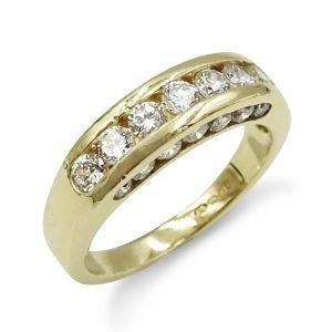 9ct Half Eternity CZ Ring