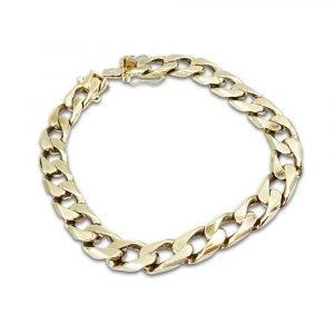 Mens Gold Curb Bracelet