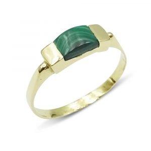 14ct Malachite Gold Ring