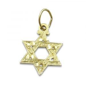 Gold Star of David Pendant in 14ct
