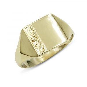 Mens Gold Signet Ring