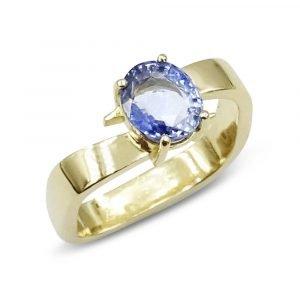 9ct Blue Stone Dress Ring