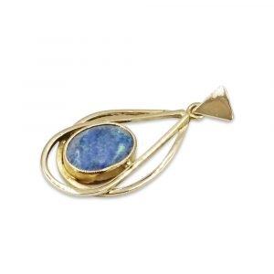 14kt Dark Opal Pendant