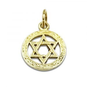 Star of David Gold Pendant Small