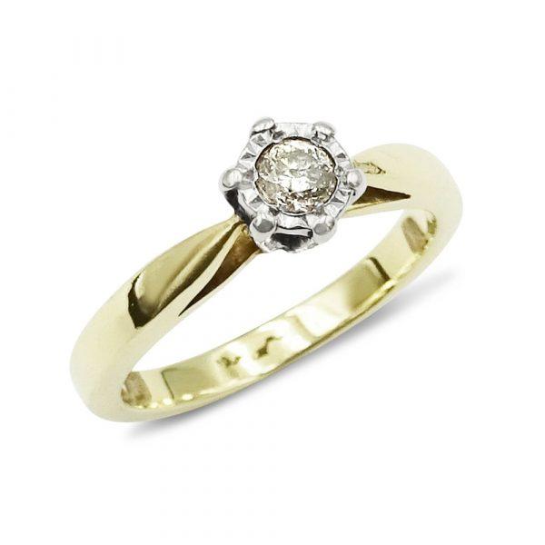 Illusion Set Diamond Ring Gold