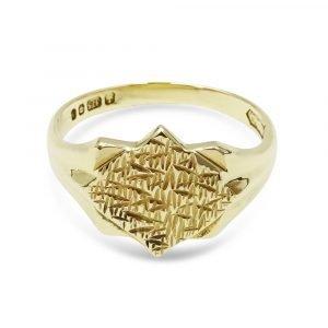 9ct Fancy Designed Signet Ring