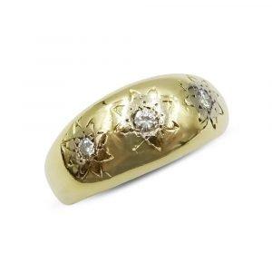 18ct Gypsy Diamond Ring 0.11ct