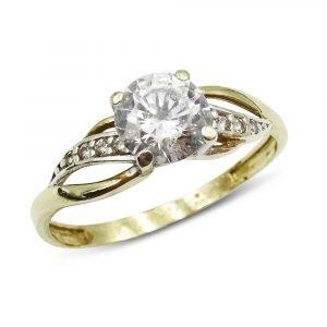 9ct Gold CZ Dress Ring