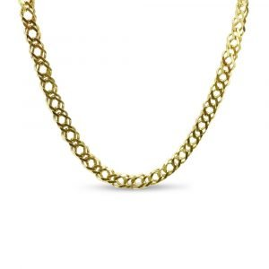 """9ct Gold Double Linked Curb Chain 16"""""""
