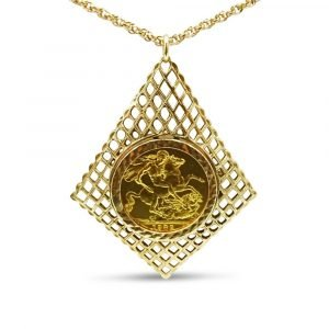 Gold Sovereign Necklace Ladies 9ct 22ct 1982