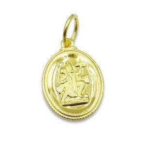 22ct Hanuman Oval Pendant