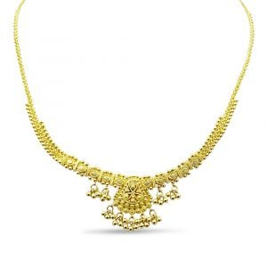 22ct Indian Gold Set Necklace Earrings