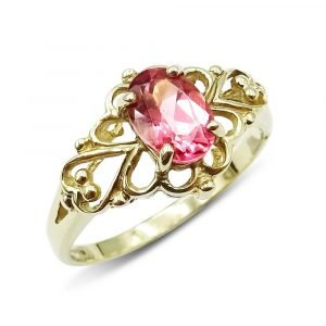 9ct Pink Stone Ring for Ladies