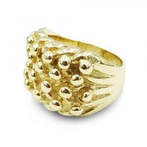 9ct Large Keeper Ring Bespoke