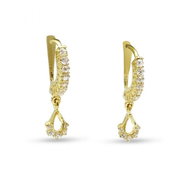 22ct Gold Indian Earrings Drops