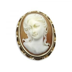 9ct Gold Oval Cameo Brooch