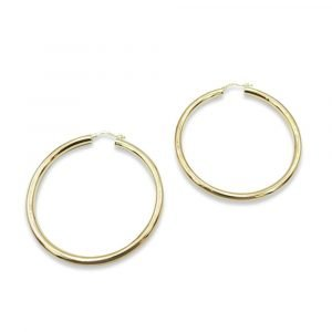 Large Hoops 9ct Gold 60mm