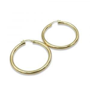 Medium 9ct 45mm Hoop Earrings