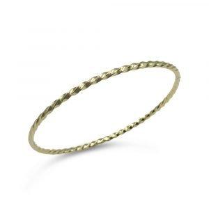 9ct Gold Solid Twist Bangle